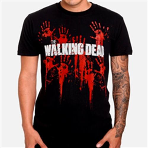 THE WALKING DEAD - T-SHIRT - BLOODY HANDS LOGO
